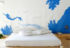 Wall Sticker UNDERWATER by Sticky!!! Wall Stickers Murals, City Life, Underwater, Summer, Room, Home Decor, Home, Bedroom, Summer Time