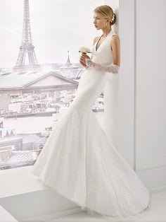 glamour encolure Robe mari e Azurite robe