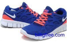 Verkaufen billig Herren Nike Free Run 2 Schuhe (Farbe:vamp, innen-blau, Logo, Sohle-weiB) Online in Deutschland.