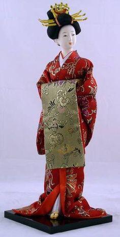 "16"" Japanese GEISHA Oriental Doll"