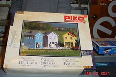 Piko G scale Train 1:22 1:25 Gramss Baker Shop Kit #62064 #Piko Baker Shop, Model Kits, Scale, Train, Shopping, Box, Weighing Scale, Snare Drum, Zug