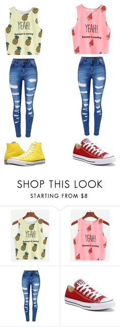 Untitled #18 by lemonitadr on Polyvore featuring WithChic and Converse