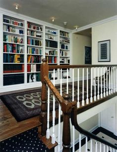 Hallway Bookcases Design, Pictures, Remodel, Decor and Ideas