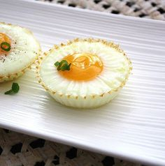Inspired Edibles: Healthy Lunch Series: Baked Egg Cups over Lime-Tahini Spinach