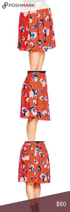 NWT 24 plus size pop art skirt Refresh your spring wardrobe with a versatile pleated A-line skirt in a vibrant floral print. Plus size 24 ( city chic XXL) Hidden back-zip closure. Lined. 100% polyester. Machine wash cold, line dry. City Chic Skirts