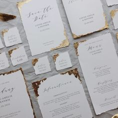 Fine art stationery with gold leaf - This set of invitation card, info card menu card, name card and tag is something very special. Classic Wedding Stationery, Wedding Stationery Sets, Gold Wedding Invitations, Wedding Cards, Stationery Paper, Wedding Menu, Wedding Gowns, Wedding Ideas, Invitation Card Design