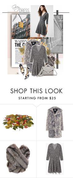"""""""Wait for the right moment..   Grey Dress"""" by pannise ❤ liked on Polyvore featuring Karl Lagerfeld, MANGO and Paul Andrew"""