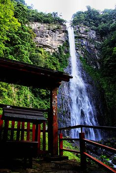 Nachi Falls, the tallest waterfall in Japan.