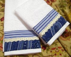 2 /Custom Decorated RALPH LAUREN Decorator fabric by Sew1Pretty