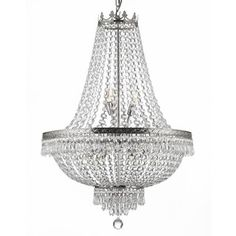 Gallery 9-light Silver/ Empire Crystal Chandelier