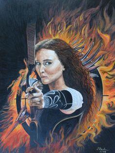 Katniss Everdeen gespielt von Jennifer Lawrence in dem Film Die Tribute von Panem – Catching Fire - Jutta Bachmann