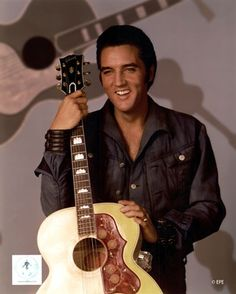 Elvis Presley was born on January in Tupelo, Mississippi, to… Lisa Marie Presley, Priscilla Presley, Elvis Guitar, Rock And Roll, Elvis 68 Comeback Special, Elvis Presley Pictures, Heavy Metal, Idole, Gibson Guitars