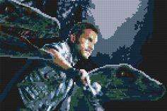 Jurassic World Owen & Raptors LEGO® Mosaic - 45 in x 30 in by CreativeSquareStudio on Etsy https://www.etsy.com/listing/239591413/jurassic-world-owen-raptors-lego-mosaic