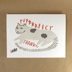 egg press | cat thank you card