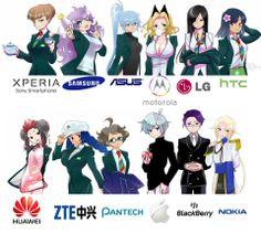 Tech companies as #Anime! Cool Art, Version Animée, Anime Version, Cartoon As Anime, Anime Art, Manga, Anime Style, Chibi, Fashion Art