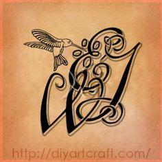 Swirled Letters #tattoo EWJ