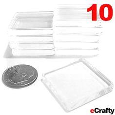 "10 PACK Clear Glass Craft Tiles Squares 1"" 25mm DIY Jewelry Photo Pendants #glass #glasstilejewelry #crafts #beads #diy #glassjewelry #glasspendants #craftglass #wholesale #beading #ecrafty www.eCrafty.com"