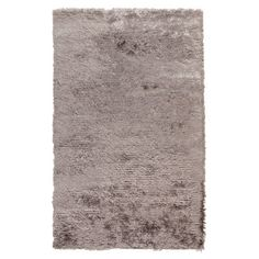 Shag rug in flint gray. Hand-woven in India.   Product: RugConstruction Material: PolyesterColor: