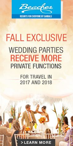 Best idea for an all inclusive wedding that is sure to provide you with a lifetime of amazing memories of your perfect day!