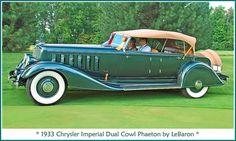 1933 Chrysler Imperial Dual Cowl Phaeton by LeBaron