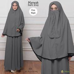 Marwah Syari by Friska Niqab, Dark Grey, Womens Fashion, Dresses, Vestidos, Women's Fashion, Dress, Woman Fashion, Gown
