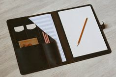 This Leather Folder Personalized Portfolio Leather Document Holder Personalized Bag For Documents Portfolio Case Leather Notebook Cover is just one of the custom, handmade pieces you'll find in our office & school supplies shops. Crazy Horse, Leather Folder, Portfolio Case, Folder Design, Leather Portfolio, Document Holder, Leather Notebook, Leather Notepad, Minimalist Wallet