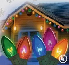 "Set of 25 Transparent Multi-Color C7 Christmas Lights - Green Wire by Vickerman. Save 43 Off!. $16.99. Set of 25 Christmas LightsItem #V47E710 Features:Color: transparent multi bulbs / green wireMulti-color consists of orange, red, blue, green and pink bulbs Number of bulbs on string: 25 Bulb size: C7Spacing between each light: 12"" Lighted string length: 25 feet (7.62m) Total string length: 26 feet (7.92m) Wire gauge: 20Additional Product Features:If one bulb goes out the rest wil..."