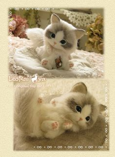 Needle felted cat by LeoRai ya from Japan