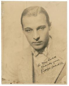 Rudolph Valentino Collectibles: Autographed Photo of Rudolph Valentino
