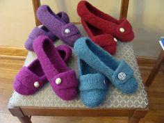 Felted Crocheted Slippers...I'm definately learning to crochet!!