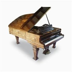 Steinway (c1902) A fine 6ft 11in Model B grand piano in a rosewood and inlaid art case, decorated with swags and panels depicting musical trophies and foliate ornament, raised on square tapered legs.