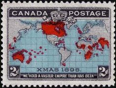 1898, Canada stamp. Has the honor of being labeled as the first Christmas postage stamp.