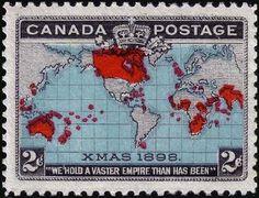 1898, sello de Canadá. Tiene el honor de ser etiquetado como la primera Navidad