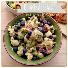 Vanløse blues.....: Blomkålssalat med avokado & blåbær