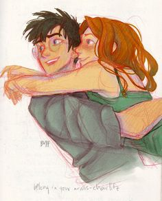 Harry Potter and Ginny Weasley.