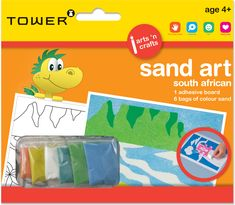 his unique Sand Art range celebrates the diversity of South Africa with fun, distinctive designs. Office Organisation, Sand Art, Colour Board, Diversity, South Africa, Adhesive, Arts And Crafts, Tower, African