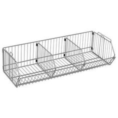 "Quantum Storage Systems 2012DC Wire Basket Divider  Chrome Finish  20"" Length x 12"" Height"