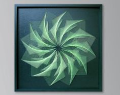 Abstract Zen Wall Art in zilver grijs 3D heilige door FeniksArtDeco