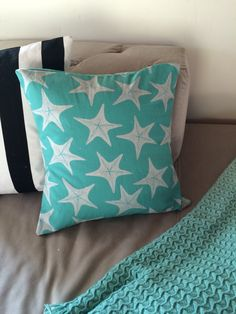 A personal favorite from my Etsy shop https://www.etsy.com/listing/220991244/star-fish-pillowcovers-star-fish-on-soft
