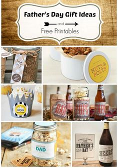 Fathers Day Gift Ideas and Free Printables... great round up of creative ideas!