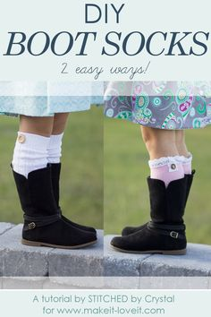 DIY Boot Socks...2 easy methods! | via www.makeit-loveit.com