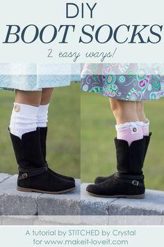 DIY Boot Socks...2 easy methods! | via www.makeit-loveit.com