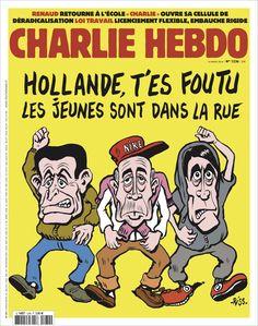 Charlie Hebdo - N° 1234 - Mercredi 16 Mars 2016 - Couverture de Riss