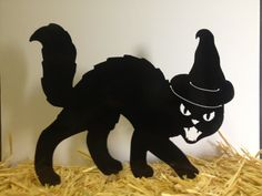 Hey, I found this really awesome Etsy listing at https://www.etsy.com/listing/207424335/set-of-2-black-cat-yard-stakes-halloween