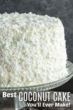 The Best Coconut Cake You'll Ever Make - Home.- The Best Coconut Cake You'll Ever Make – Home. The Best Coconut Cake You'll Ever Make – Home. Kokos Desserts, Coconut Desserts, Coconut Recipes, Köstliche Desserts, Dessert Recipes, Best Coconut Cake Recipe Ever, Coconut Cake From Scratch, Coconut Cake Easy, Best Moist Coconut Cake Recipe