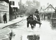 Flooding at Twickenham, 1924.