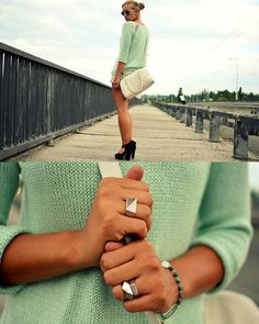 Mint (by Layla .D) http://lookbook.nu/look/3878928-Mint-White