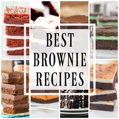 This post may contain affiliate links. See my Full Disclosure for further details. BEST BROWNIE RECIPES a collection of all my favorite brownie recipes. From classic to fudgy and peanut butter to caramel, we have every brownie recipe that you could dream of. Pretty much if I am having a rough day I will make …