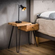 5 Easy Tips To Use Mid-Century Nightstand Design Industrial Design Furniture, Diy Furniture, Furniture Design, Bedroom Furniture, Furniture Buyers, Live Edge Tisch, Live Edge Table, Home Decor Bedroom, Room Decor