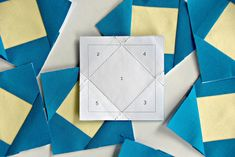 Square in a Square Paper Piecing Templates
